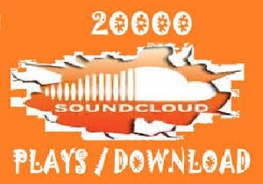 give you 20,000 SOUNDCLOUD Plays to any tracks of your choice