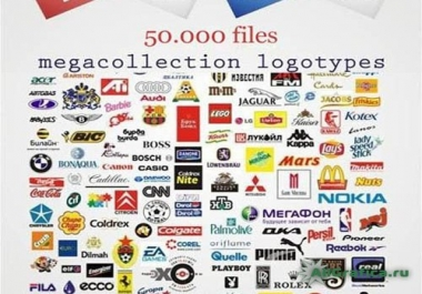 I will send you more than 50000 Completely Editable High Quality Commercial Logos