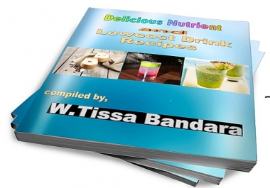 provide an e-book with 20 delicious,nutrients and low cost Drink recipes