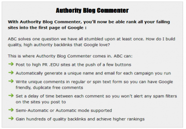 authority blog commenter with huge bonus