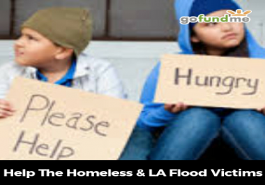 contribute to my GoFundMe campaign to help the flood victims and homeless in South Louisiana.