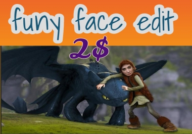 do funy 50 type face edit your photo