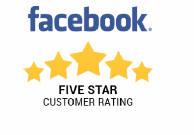 Provide 30 usa facebook Five Star Rating to your fan page