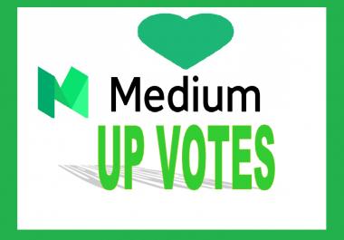 Get you 50 Worldwide Medium UpVotes5