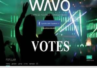 Manage for you 20 wavo votes for your WAVO.ME Conte