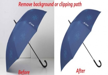 Remove background or clipping path of 10 images
