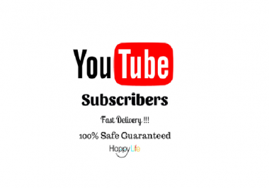 give you 50 youtube genuine human high quality subscribers