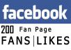 deliver 200 Facebook Fanpage Likes