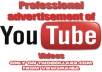promote your Youtube video over our website network and social networks for 3 days