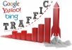 deliver 50 000 worldwide website traffic 40-60% Usa Hits