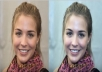 retouch the face of the human image