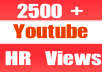 Give You 2601+ NON Drop + Splitable Youtube Views