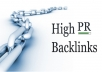 create over 1000 high pr dofollow backlinks and i will supply report