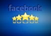 provide 50 USA facebook Five Star Rating to your fan page