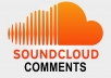 Manually get you 50 USA soundcloud comments or soundcloud likes or scoundcloud repost
