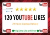 send 120 Real Youtube Likes Fast