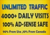 deliver 150 000 wolrdwide traffic