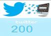 add 200 real Twitter Followers