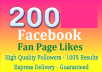 add 200 real Facebook likes