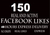 promote your facebook post 150 Like