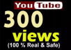 provide 300+ Real YouTube Views