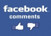 provide 50 Facebook Comments on your post or photo