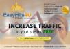 Send 2000 Easyhits4u Traffic