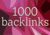Provide 1000 SEO Backlinks, To Website Improving