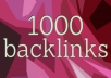 Provide 1000 SEO Backlinks, To Website Improving