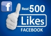 give you 500 Facebook likes for posts or Profile pictures