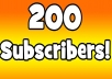 200 high quality youtube Subscribers genuine