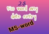 do 500 words data entry MS-word
