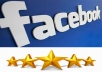 give you 25 Facebook five star rating and review on your fan page
