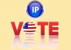 give you 25 genuine IP votes by real people to any IP contes