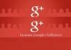 Provide 100+ Google Plus Active & Non Drop Followers