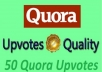 promote high quality profile worldwide 50 quora upvotes