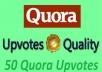 promote high quality profile worldwide 50 quora upvotes