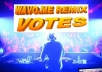 Wavo 10+ Votes Different IPs For Your Wavo Me Remix Contest