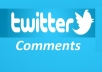 get 50 Real USA user twitter comments to your tweet
