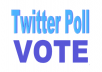 I will give you 50 twitter poll votes on your online contest.
