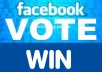 I can provide 60 Real USA Facebook votes Or Any Contest Voting Website