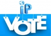 Get 50 Unique IP votes (Targeted Country)