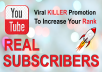 Add 20+ Subscribers on your YouTube channel to increase SEO