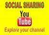 Do 200+ Social Sharing SEO For YouTube video