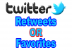 Add 200+ Twitter Retweets or Favorites to increase your SEO social media