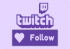 Follow your Twitch channel account