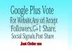 Get 25+ Google plus share or Google post +1