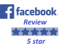 give 30 Facebook Fanpage five star positive review votes for your fanpage