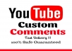 add 50 youtube video related custom comments