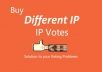 Different 50 ip votes on your online poll voting contest
